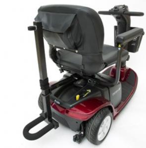 Quad Cane Holder on scooter