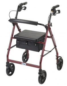 "Drive Aluminum Rollator with 7.5"" Casters"