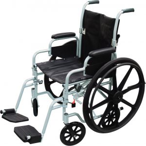 Poly-Fly Lightweight Wheelchair and Flyweight Transport Chair Combo