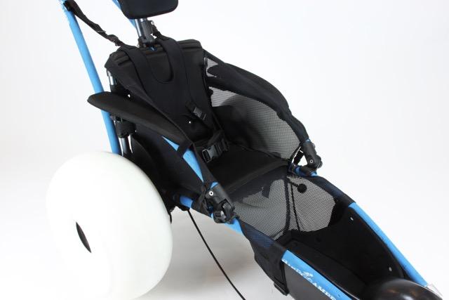 Hippocampe armrests nets and footrest net